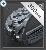 300mm Mini Excavator Rubber Track