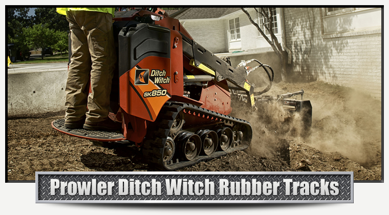 Ditch Witch Replacement Rubber Tracks