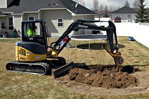 Excavator Digging Dirt