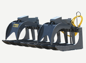Root Grapple Skid Steer Attachment
