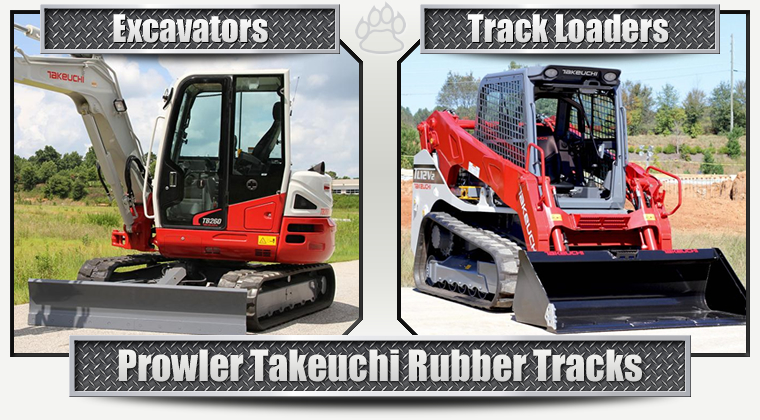 Rubber Tracks for Takeuchi Excavators and Compact Track Loaders