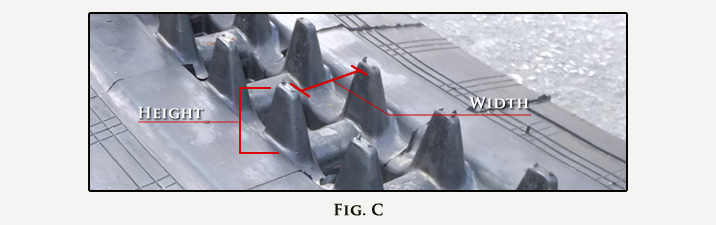 Rubber Track Guide Width