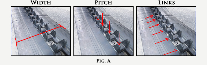 Rubber Track Width Pitch Links