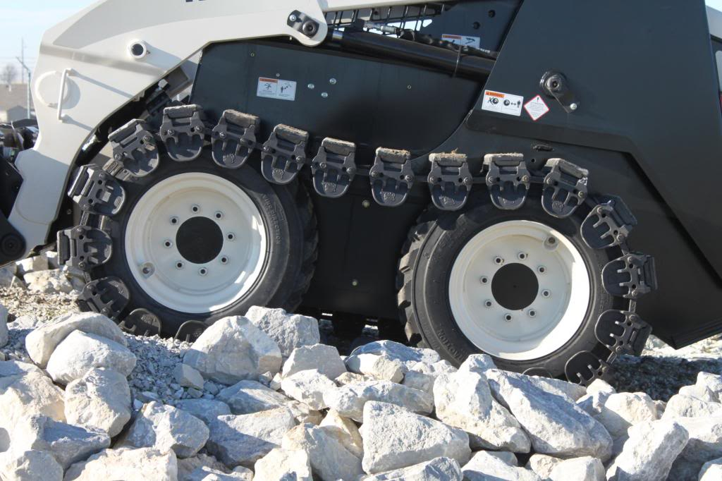Prowler Skid Steer Over The Tire Tracks Steel And Rubber
