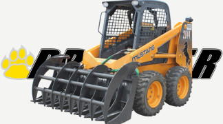 Grapple Rake On Skid Steer Loader