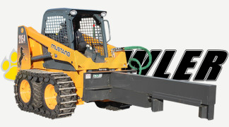Skid Steer Equipped With Wood Splitter