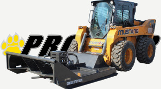 Extreme Duty Brush Mower On Skid Steer