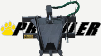 Stump Bucket Grapple Front View