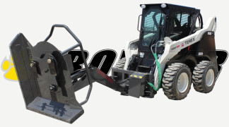 Swing Arm Mower On Skid Steer Loader