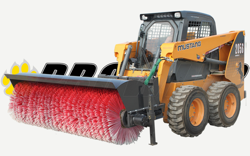Hydraulic Angle Broom Skid Steer Loader Attachment