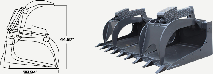 Extreme Duty Demo Grapple Specs