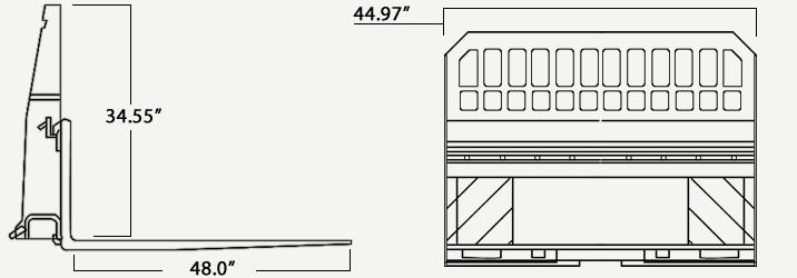 Heavy Duty Pallet Fork Specs