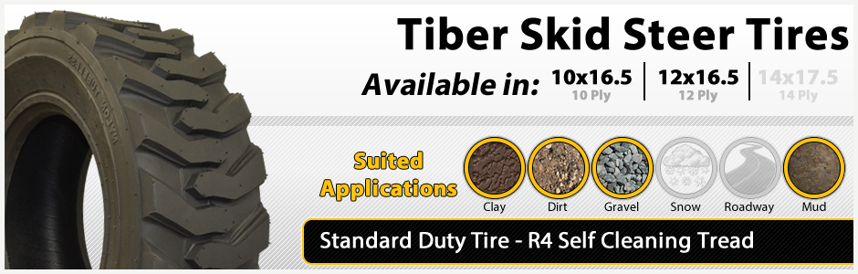 Standard Duty Tiber Skid Steer Tires