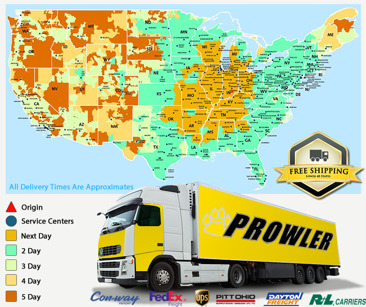 United States Freight Shipping Map