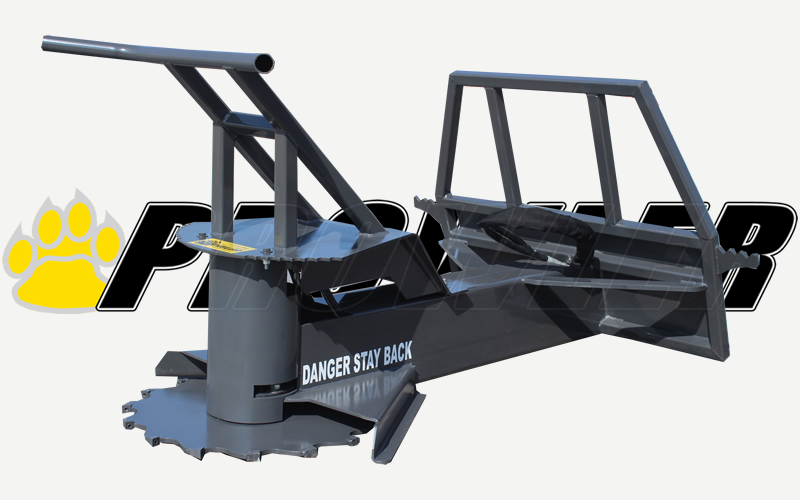 Extreme Duty Tree Saw Skid Steer Loader Attachment