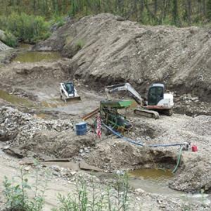 gold mining hole
