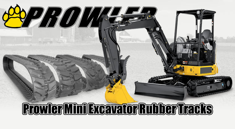 prowler mini excavator rubber tracks